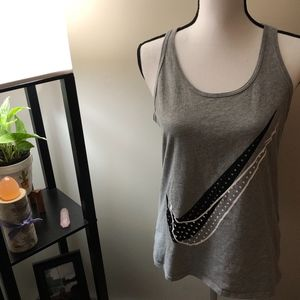 Nike Athletic Cut Gray Workout Tank Top